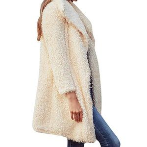 Jackets & Blazers - Shaggy Long Fur Coat